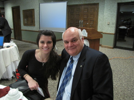 Emily Duff and her father William Fisher at the Northern Panhandle Chapter Visit